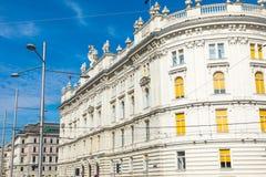 Traditionele architectuur in oude stad in Wenen, Oostenrijk royalty-vrije stock fotografie