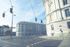 Traditionele architectuur in oude stad in Wenen, Oostenrijk royalty-vrije stock foto