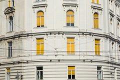 Traditionele architectuur in oude stad in Wenen, Oostenrijk royalty-vrije stock afbeelding