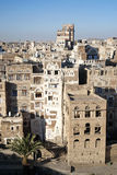 Traditionele architectuur in sanaa Yemen stock foto's