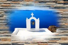 Traditionele architectuur van Oia dorp op eiland Santorini Royalty-vrije Stock Fotografie
