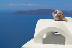 Traditionele architectuur van Oia dorp op eiland Santorini Royalty-vrije Stock Foto's