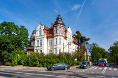 Traditionele architectuur van Sopot, Polen Royalty-vrije Stock Foto's