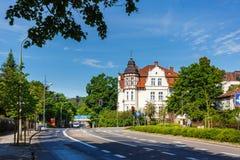 Traditionele architectuur van Sopot, Polen Stock Afbeeldingen