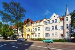 Traditionele architectuur van Sopot, Polen Royalty-vrije Stock Foto