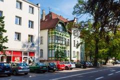 Traditionele architectuur van Sopot, Polen Stock Foto