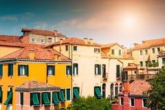 Traditionele architectuur in Venetië, Italië stock afbeeldingen