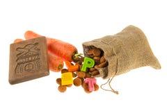 Traditionele attributen Sinterklaas Royalty-vrije Stock Foto