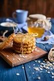 Traditionele Australische Anzac-koekjes royalty-vrije stock afbeeldingen