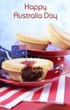 Traditionele Australische Vleespasteien Royalty-vrije Stock Foto's