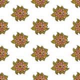 Traditionele Aziatisch van Paisley en van de bloem of Indisch Vector Illustratie