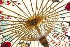 Traditionele Aziatische document paraplu Royalty-vrije Stock Foto