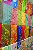 Traditionele Aziatische stoffen Stock Foto's