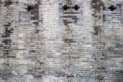 Traditionele bakstenen muur Stock Foto's