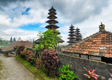Traditionele Balinese architectuur. De Pura Besakih-tempel Stock Afbeeldingen
