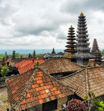 Traditionele Balinese architectuur. De Pura Besakih-tempel Stock Fotografie