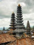 Traditionele Balinese architectuur. De Pura Besakih-tempel Royalty-vrije Stock Foto's