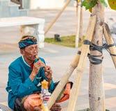 Traditionele Balinese Musici die bij GWK presteren stock foto