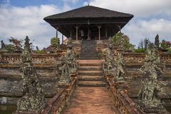 Traditionele Balinese tempel in Bali, Indonesië stock afbeelding