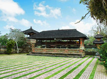 Traditionele Balinese tempel - Pura Beji. Stock Foto