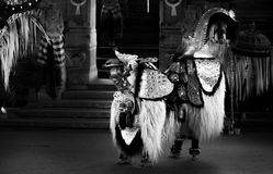 Traditionele Barong-Dans, Bali, Indonesië royalty-vrije stock afbeelding