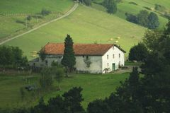 Traditionele Baskische huisvesting royalty-vrije stock foto's