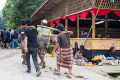 Traditionele begrafenis in Tana Toraja Royalty-vrije Stock Foto's