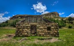 Traditionele Boerderij in Lesotho royalty-vrije stock foto