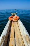 Traditionele boot in Indische Oceaan stock afbeeldingen