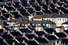 Traditionele Britse huizen, Plymouth, het UK Royalty-vrije Stock Foto's