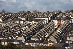 Traditionele Britse huizen, Plymouth, het UK Stock Foto