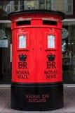 Traditionele Britse Postbox Stock Foto's