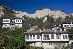 Traditionele Bulgaarse architectuur stock foto