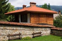 Traditionele Bulgaarse architectuur stock fotografie