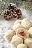 Traditionele Bulgaarse eigengemaakte koekjes met het Turkse verrukking geroepen vullen, Royalty-vrije Stock Afbeelding