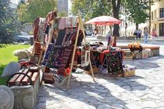 Traditionele Bulgaarse Textiel Stock Foto's