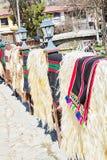 Traditionele Bulgaarse woldeken Stock Fotografie