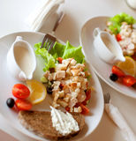 Traditionele caesar salade Stock Fotografie