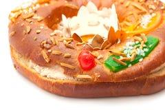 Traditionele cake Roscon del Reyes Royalty-vrije Stock Afbeeldingen