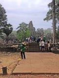 Traditionele Cambodjaanse straatveger Stock Foto