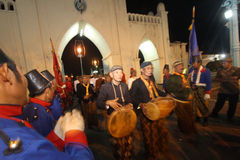Traditionele ceremonie Maanverduistering Stock Foto