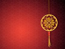 Traditionele Chinese amulet royalty-vrije illustratie