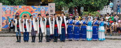 Traditionele Chinese Dansers royalty-vrije stock afbeelding