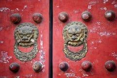 Traditionele Chinese deur Royalty-vrije Stock Afbeelding