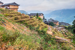 Traditionele Chinese dorpsblokhuizen royalty-vrije stock foto