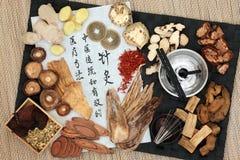 Traditionele Chinese geneeskunde Stock Afbeelding