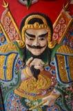 Traditionele Chinese Godskarakters bij de deur Stock Foto's