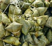 Traditionele Chinese Kleverige Rijstbollen Stock Foto