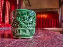 Traditionele Chinese oude groene kop royalty-vrije stock foto