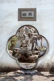 Traditionele Chinese overwelfde galerij in Lion Grove Garden, Suzhou, CH royalty-vrije stock foto's